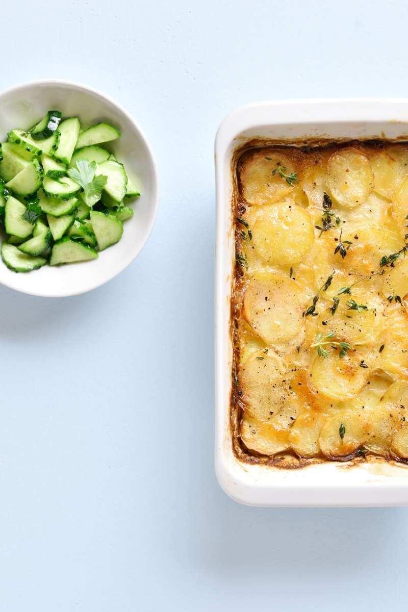 Vegan potato gratin